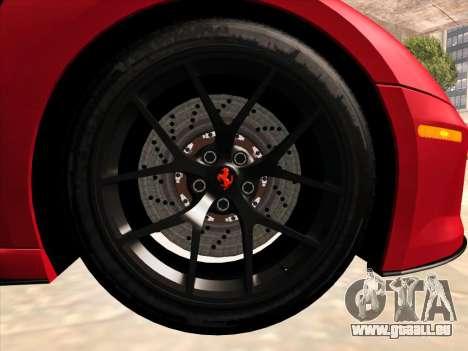 Ferrari 599 GTO pour GTA San Andreas vue intérieure