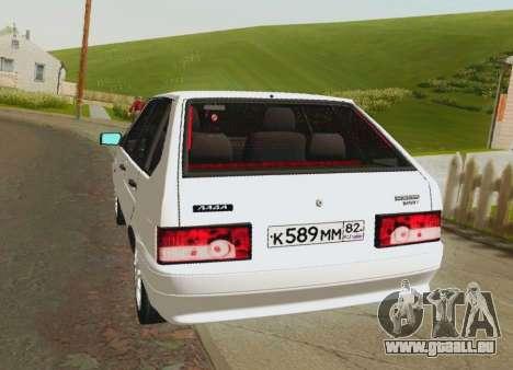 VAZ-21093 pour GTA San Andreas sur la vue arrière gauche