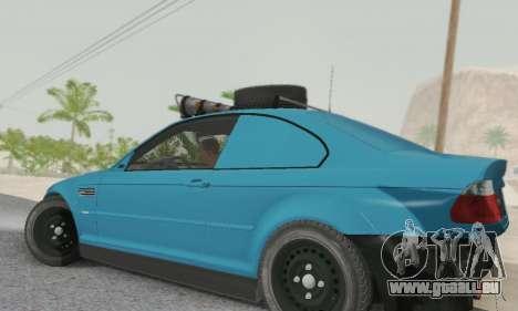 BMW M3 E46 Offroad Version pour GTA San Andreas laissé vue