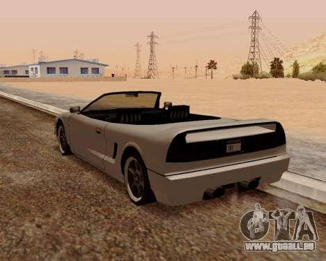 Infernus Convertible pour GTA San Andreas sur la vue arrière gauche