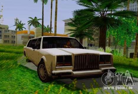 Greenwood Limousine pour GTA San Andreas vue de droite