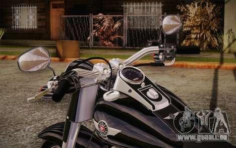 Harley-Davidson Fat Boy Lo 2010 für GTA San Andreas Rückansicht