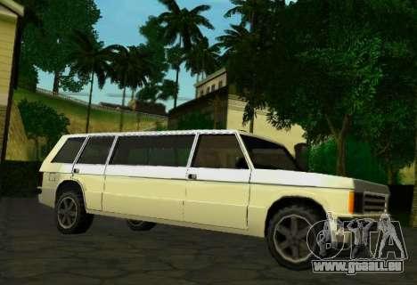 Huntley Limousine pour GTA San Andreas vue de droite