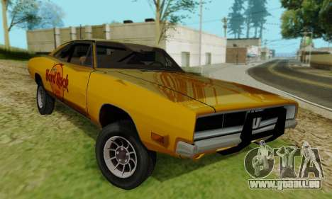 Dodge Charger 1969 Hard Rock Cafe für GTA San Andreas rechten Ansicht