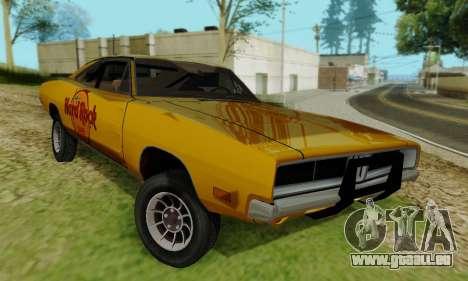 Dodge Charger 1969 Hard Rock Cafe pour GTA San Andreas vue de droite