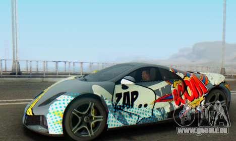 GTA Spano 2014 IVF pour GTA San Andreas vue de dessous