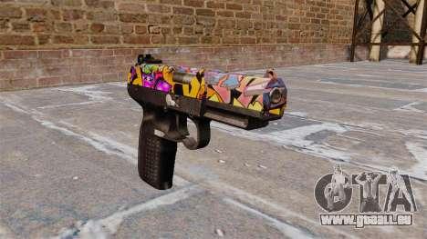 Pistole FN Five seveN Graffiti für GTA 4