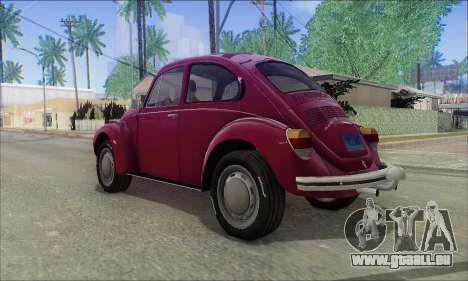 1973 Volkswagen Beetle pour GTA San Andreas laissé vue