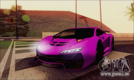Zentorno GTA 5 V.1 für GTA San Andreas Innen