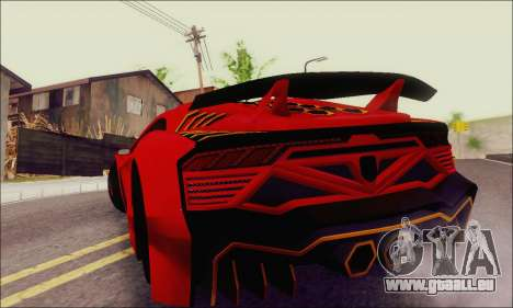 Zentorno GTA 5 V.1 für GTA San Andreas obere Ansicht