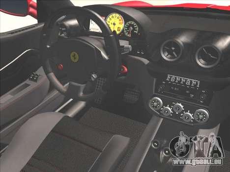 Ferrari 599 GTO pour GTA San Andreas vue de côté