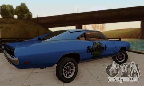 Dodge Charger 1969 Hard Rock Cafe pour GTA San Andreas vue de côté