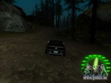 Le compteur de vitesse dans le style d'un néon pour GTA San Andreas quatrième écran