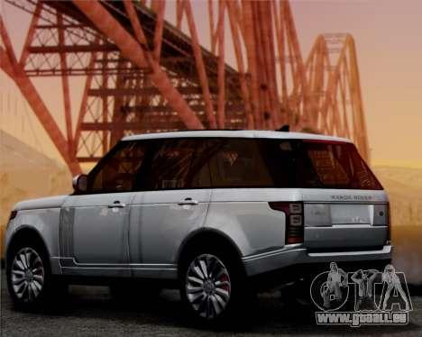 Range Rover Vogue 2014 pour GTA San Andreas sur la vue arrière gauche