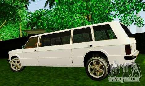 Huntley Limousine pour GTA San Andreas laissé vue