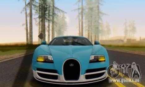 Bugatti Veyron Super Sport 2011 pour GTA San Andreas laissé vue