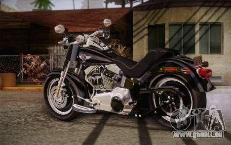 Harley-Davidson Fat Boy Lo 2010 pour GTA San Andreas laissé vue