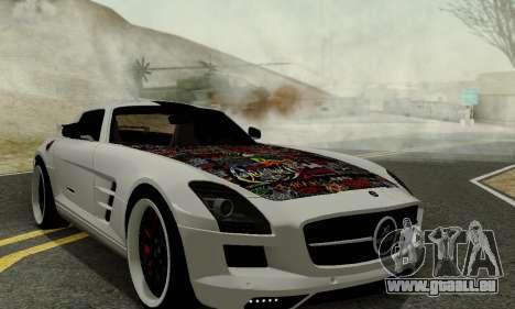 Mercedes SLS AMG Hamann 2010 Metal Style für GTA San Andreas