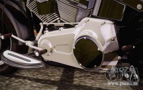 Harley-Davidson Fat Boy Lo 2010 für GTA San Andreas zurück linke Ansicht
