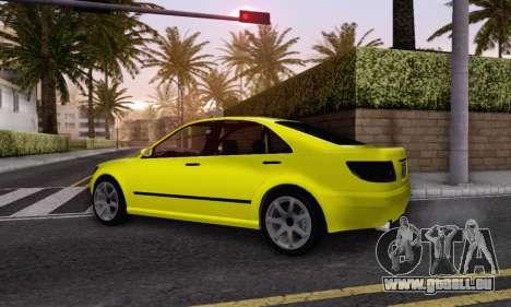Karin Asterope V1.0 pour GTA San Andreas sur la vue arrière gauche