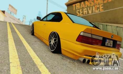 BMW 850CSI 1996 pour GTA San Andreas vue arrière