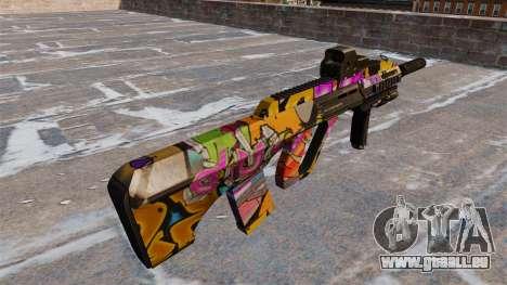 Machine Steyr AUG A3 Graffitis pour GTA 4 secondes d'écran