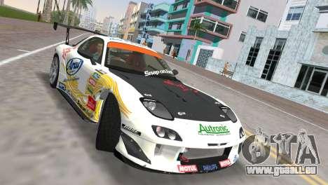Mazda RX7 FD3S RE Amamiya Arial pour une vue GTA Vice City de la droite