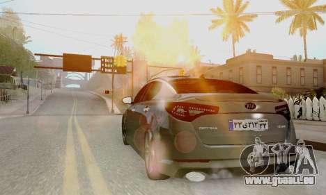 Kia Optima Stock pour GTA San Andreas laissé vue