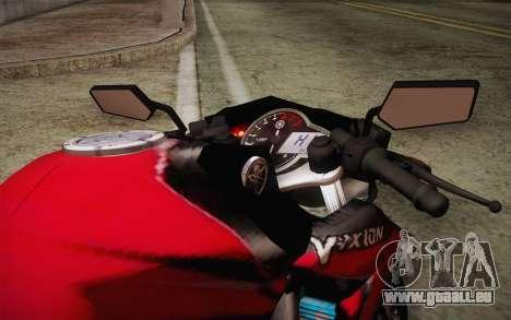 Yamaha V-Ixion 2014 pour GTA San Andreas vue intérieure