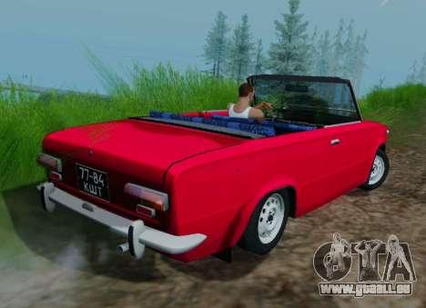 VAZ 2101 Convertible pour GTA San Andreas sur la vue arrière gauche
