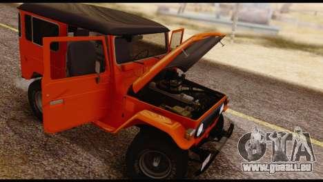 Toyota Land Cruiser (FJ40) 1978 pour GTA San Andreas vue de dessous
