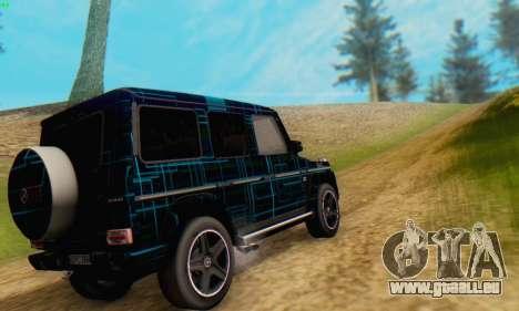 Mercedes-Benz G65 Black Square Pattern pour GTA San Andreas sur la vue arrière gauche