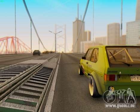 Volkswagen Golf Mk I für GTA San Andreas Rückansicht