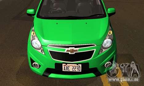 Chevrolet Spark 2011 pour GTA San Andreas vue intérieure
