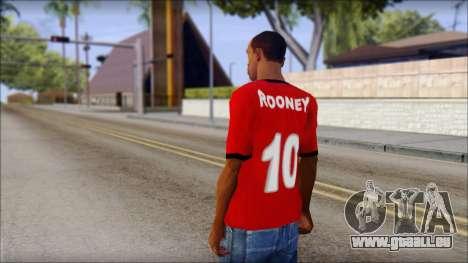Manchester United 2013 T-Shirt pour GTA San Andreas deuxième écran