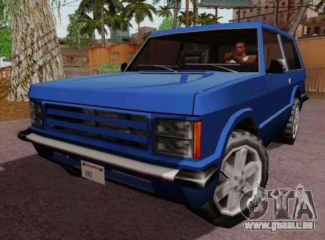 Huntley Coupe pour GTA San Andreas laissé vue