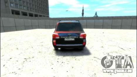 Toyota Land Cruiser 200 2013 pour GTA 4 est un droit
