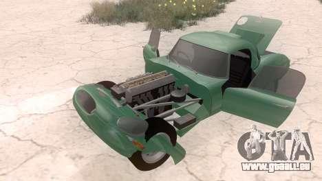 Jaguar E-Type pour GTA San Andreas vue de droite