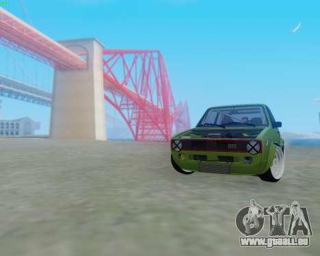 Volkswagen Golf Mk I pour GTA San Andreas laissé vue