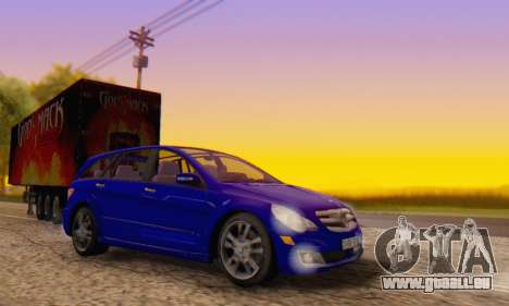 Mercedes-Benz R350 pour GTA San Andreas vue intérieure