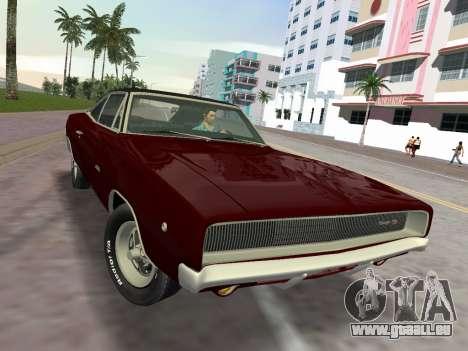 Dodge Charger RT 426 1968 pour une vue GTA Vice City de la droite