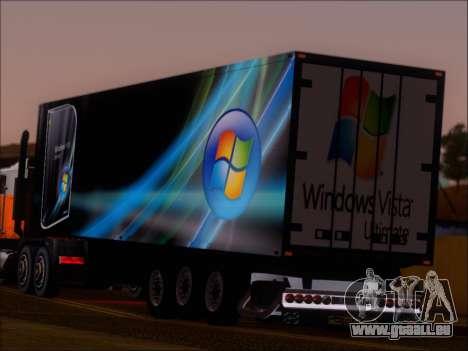 Прицеп Windows Vista Ultimate pour GTA San Andreas sur la vue arrière gauche