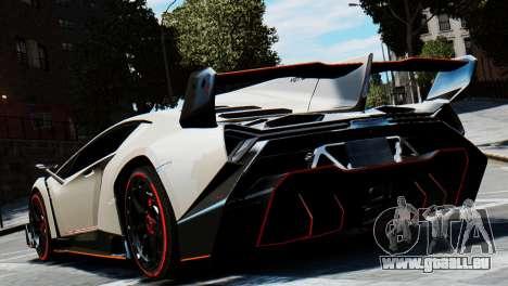 Lamborghini Veneno 2013 pour GTA 4 Vue arrière