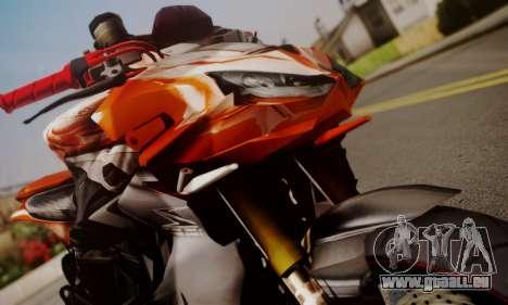 Kawasaki Z1000 2014 für GTA San Andreas zurück linke Ansicht
