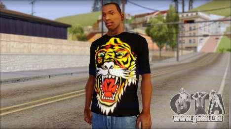 Ed Hardy Lion T-Shirt pour GTA San Andreas