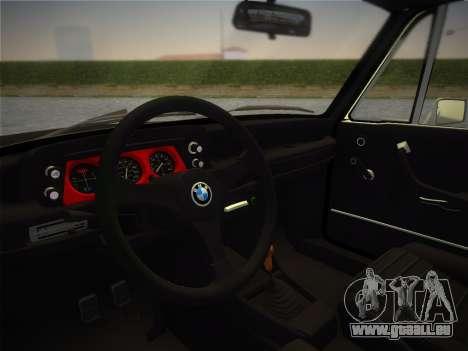 BMW 2002 Tii (E10) 1973 pour une vue GTA Vice City de la droite