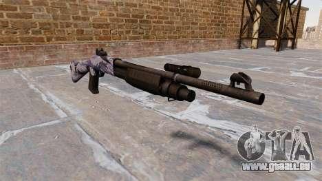 Ружье Benelli M3 Super 90 tigre bleu pour GTA 4