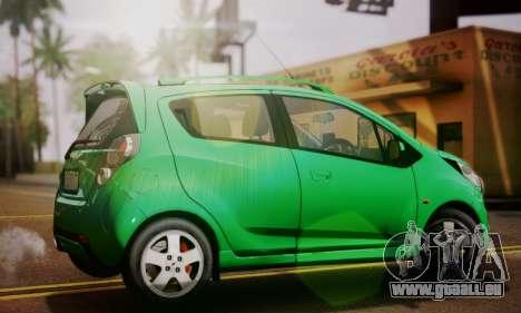 Chevrolet Spark 2011 pour GTA San Andreas laissé vue