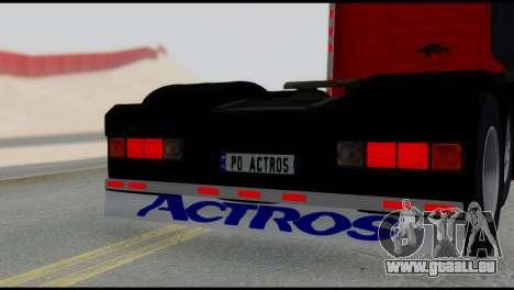 Mercedes-Benz Actros für GTA San Andreas zurück linke Ansicht