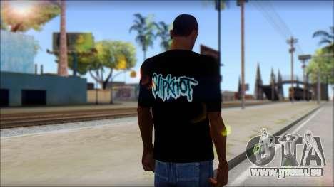 SlipKnoT T-Shirt v3 pour GTA San Andreas deuxième écran